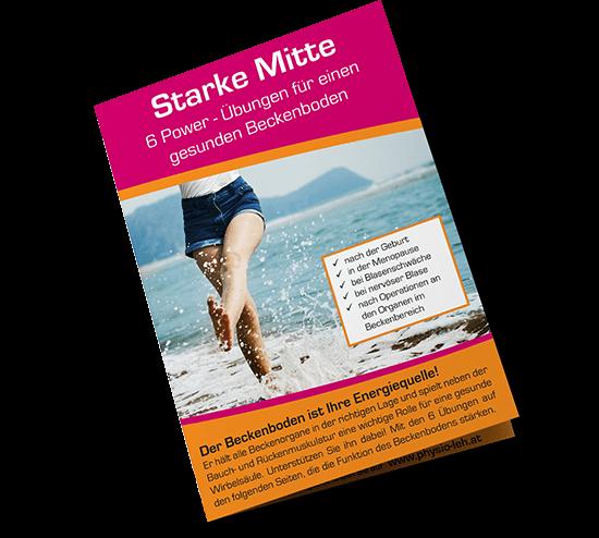 Beckenboden Broschüre & 6 Power-Übungen für einen gesunden Beckenboden für den Alltag